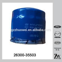Peças Automotivas Carro Filtro de Óleo para Hyundai Mitsubishi 26300-35503