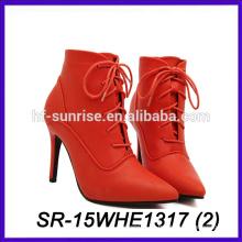 Color rojo hotselling los zapatos al por mayor de las mujeres de China