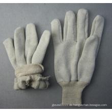 Jersey Liner Baumwolle Arbeitshandschuh stricken Handgelenk (2119)