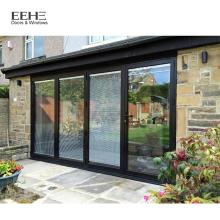 Moderne Handelsaluminiumrahmen-Einfahrtstor-Glastüren