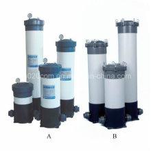 Boîtier de filtre à cartouche en plastique pour la filtration de l'eau