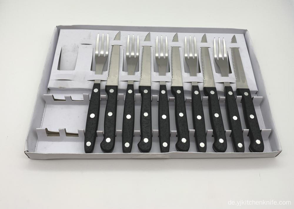 12PCS Steak Messer und Gabel Bakelit Griff Set