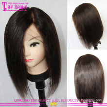 Unverarbeitete Spitzenqualität geschichteten Bob Perücke 100 % 6a Bob brasilianisches Haar Echthaarperücken