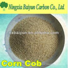 Mazorca de maíz para extracción de metales pesados de aguas residuales