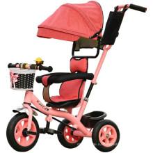 Дети трехколесный велосипед трехколесный велосипед ездить на игрушки ребенок коляска автомобиль коляска Сталкивателем