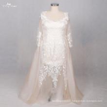 TW0190 Champagne Plus Size Detachable Wedding Dress Train
