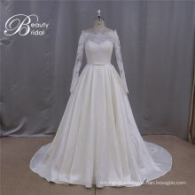 Hot Sale French Lace Mikado Wedding Gown