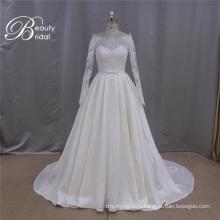 Rju009 Оптовая высокие Qualitty кружево аппликация свадебное платье с рукавом 2016