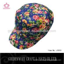 Forme los sombreros militares florales de la tela de T / C