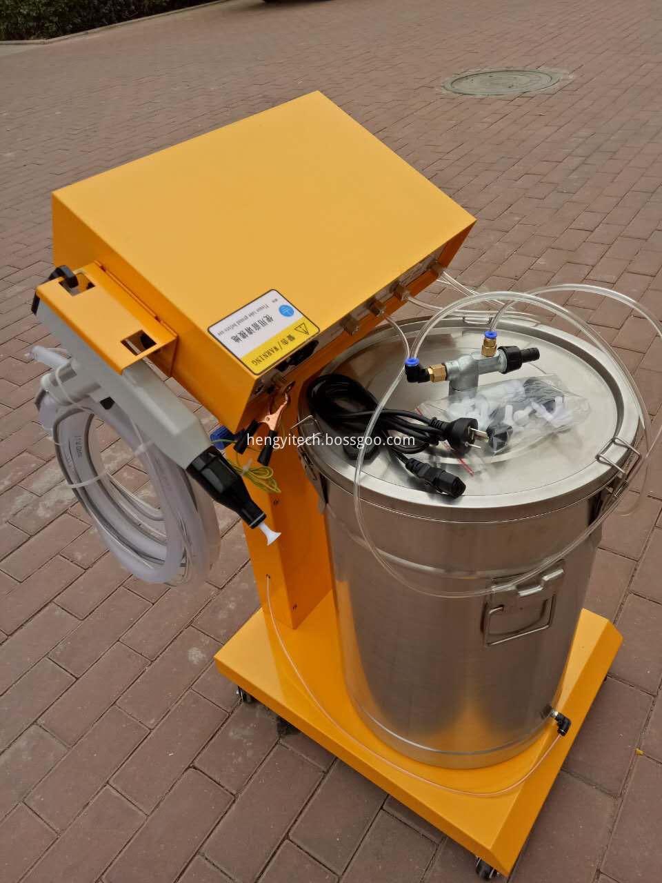 manual spray powder machine