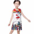 Girl Party Wear Western Baby Girl Printed Dress Children Frocks Design One Piece Children Girl Dress