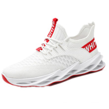2021 new arrivals Mesh breathable men's casual shoes trend all-match outdoor sports shoes white sneakers