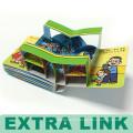Klares kundenspezifisches Großhandelslernkarton 3d Kinderbuch