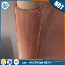 Faraday gaiola blindagem de malha de metal fio de cobre vermelho / emi blindagem de malha de cobre de tecido