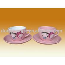 tazas y platos de café de cerámica