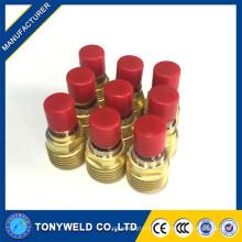 Lente de gás de soldagem tig 45v42 de tochas de soldagem wp9 / wp20 tig