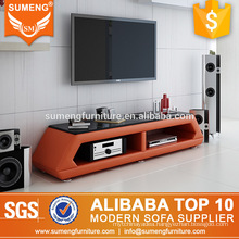 2017 turkish furniture living room wooden orange tv stand