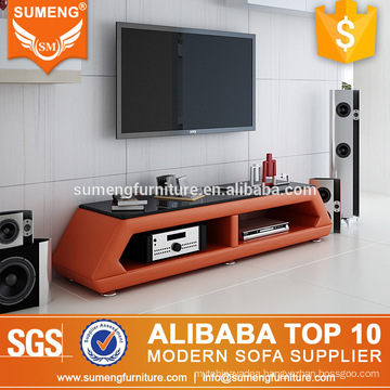 2017 turkish furniture living room wooden orange tv stand
