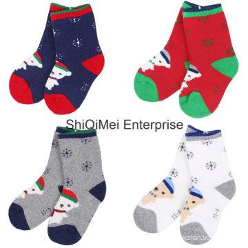 100 % Baumwolle gestrickt Großhandel angepasste Kinder Socken