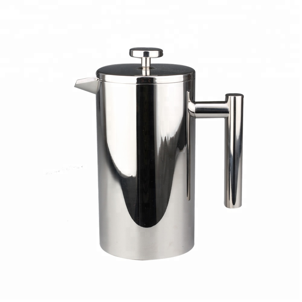 Stainless steel French press pot is durable