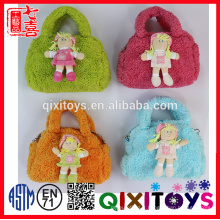 EN71 mignon à la mode en peluche poupée jouet sac à main pour les filles