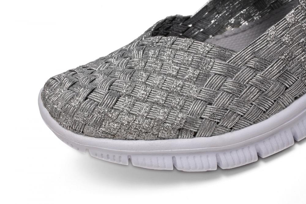 Silver Woven Upper Dance Shoes