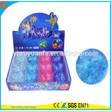 Novelty Design Kid's Toy 65mm Glitter Colorful Stipe Flashing Halloween Printed Light-up Hi Bouncing Ball