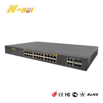 Omanagerad Gigabit 24-portar POE + switch