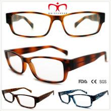 Plástico demi lectura gafas con metal en el interior (wrp508335)