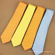 Herren Private Label Digitaldruck Polyester Flamingo Lustige Krawatte