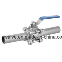 Stainless Steel 3-PC Extended Weld Ball Valve High Quality