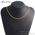 42884 Xuping Jóias 2016 mulheres colar, 24 k colar de corrente longa de ouro