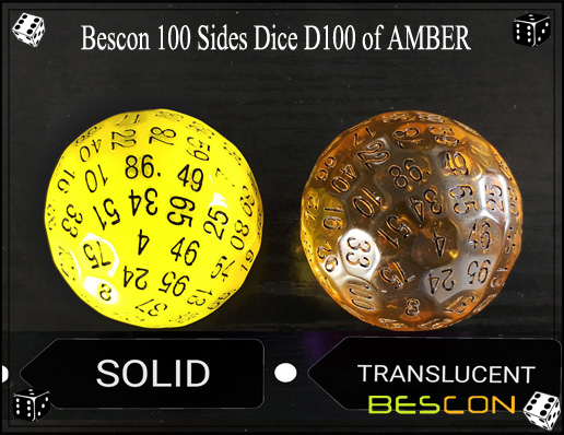 Bescon 100 Sides Dice D100 of AMBER-4