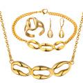 Joyería al por mayor del oro de la pulsera del anillo del pendiente del collar del oro