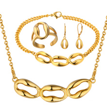 Vente en gros Pendentif en or Boucles d'oreille Bracelet en or Bracelet en or