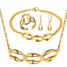 Venda Por Atacado ouro colar brinco anel pulseira ouro jóias