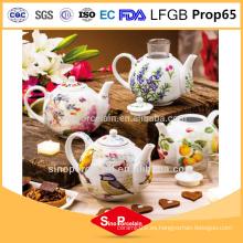 Tetera de porcelana con colador esmalte chino Tetera de cerámica Tetera