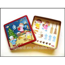 Embalagem personalizada, brinquedo do miúdo, cartoon jogo magnético, venda quente DIY criativo puzzle magnético