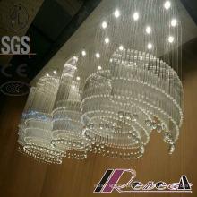 2016 moda e lustre de cristal de luxo moderno Lobby K9 Hotel