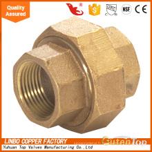 Raccords de tuyauterie en laiton union droite avec métal scellé