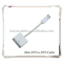 Adaptateur pour câble MINI DVI vers DVI pour ordinateur