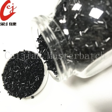 Striped Black Color Masterbatch Granules