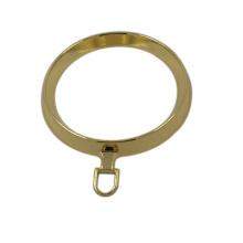 Tirador de la cremallera metálica del anillo redondo del oro grande del diseño de la manera