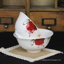 Cuvette à soupe en porcelaine