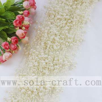 Popular 3+8MM Pearl White Artificial Pearl Beaded Garland For Décor
