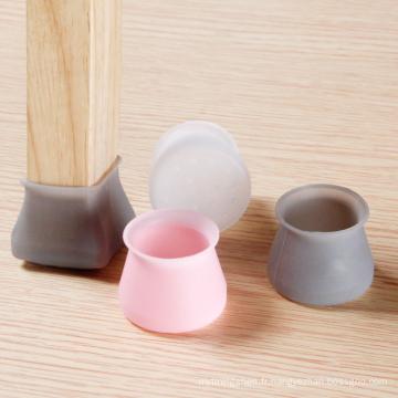 Housse de protection antidérapante en silicone pour pieds de chaise