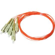 Fibre unique à l'intérieur du corps, sc multi-mode en fibre optique / câble à fibre optique multi-modes 12 core
