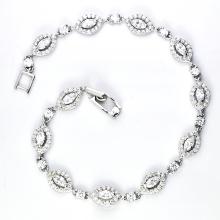 Bracelet en bijoux en zircon cubique en argent 925 (K-1751. JPG)