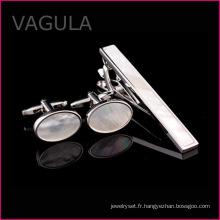 VAGULA vente Shell broche boutons de manchettes cravate cravatte chaude mariage cravate Party Set (T62283)