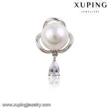 00022-xuping moda e design simples pequeno broche de pérolas